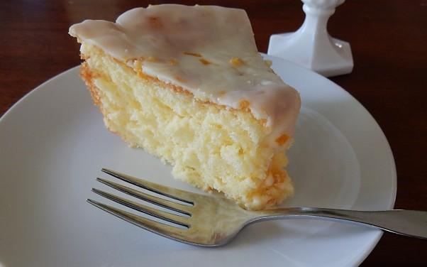 Sunshine cake slice