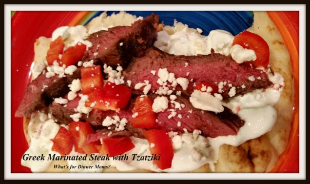 Greek Marinated Steak with Tzatziki
